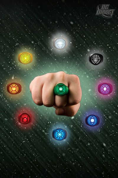 Set Anéis de Poder (Power Ring Spectrum): Lanterna Verde (Green Lantern) - DC Direct - CG