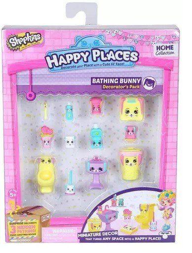 Shopkins Happy Places: Kit Decoração Banheiro Coelhinhos - DTC