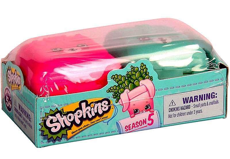 Shopkins: Kit Com 2 Shopkins e 2 Mochilinhas Sortidos Série 5