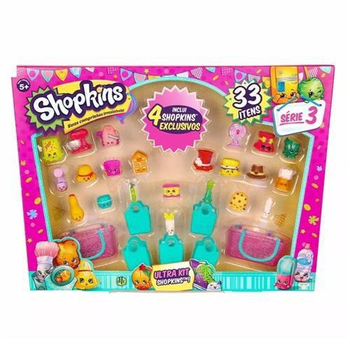 Shopkins: Ultra Kit com 33 Itens (Série 3) - DTC
