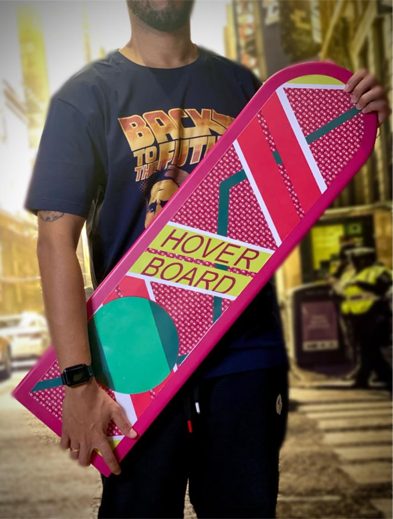 Skate Decorativo De Madeira Hover Board: De Volta Para O Futuro Back To The Future - Fanatic Studios
