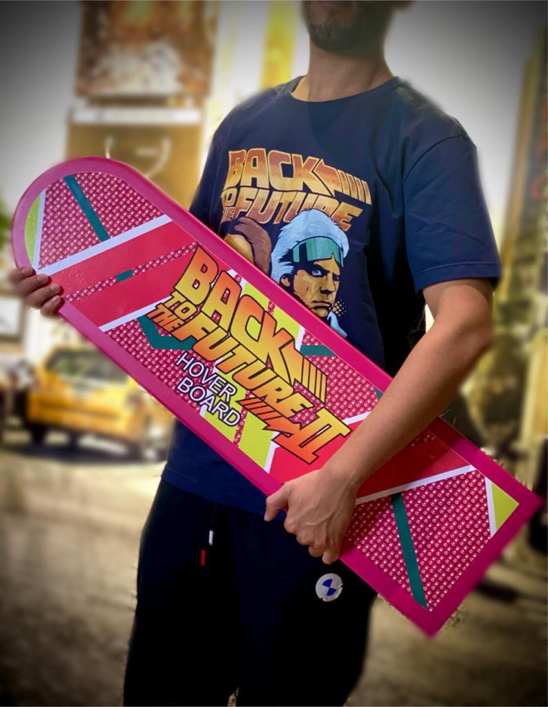 Skate Decorativo De Madeira Hover Board: De Volta Para O Futuro Back To The Future - Fanatic Studios