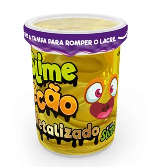 Slime Ecão Metalizado: Amarelo - DTC
