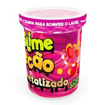 Slime Ecão Metalizado: Rosa - DTC