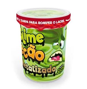 Slime Ecão Metalizado: Verde - DTC