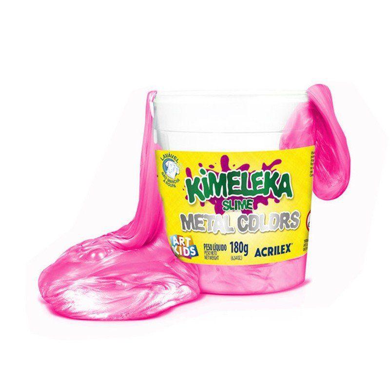 Slime Kimeleka (Metal Colors): Rosa - Acrilex