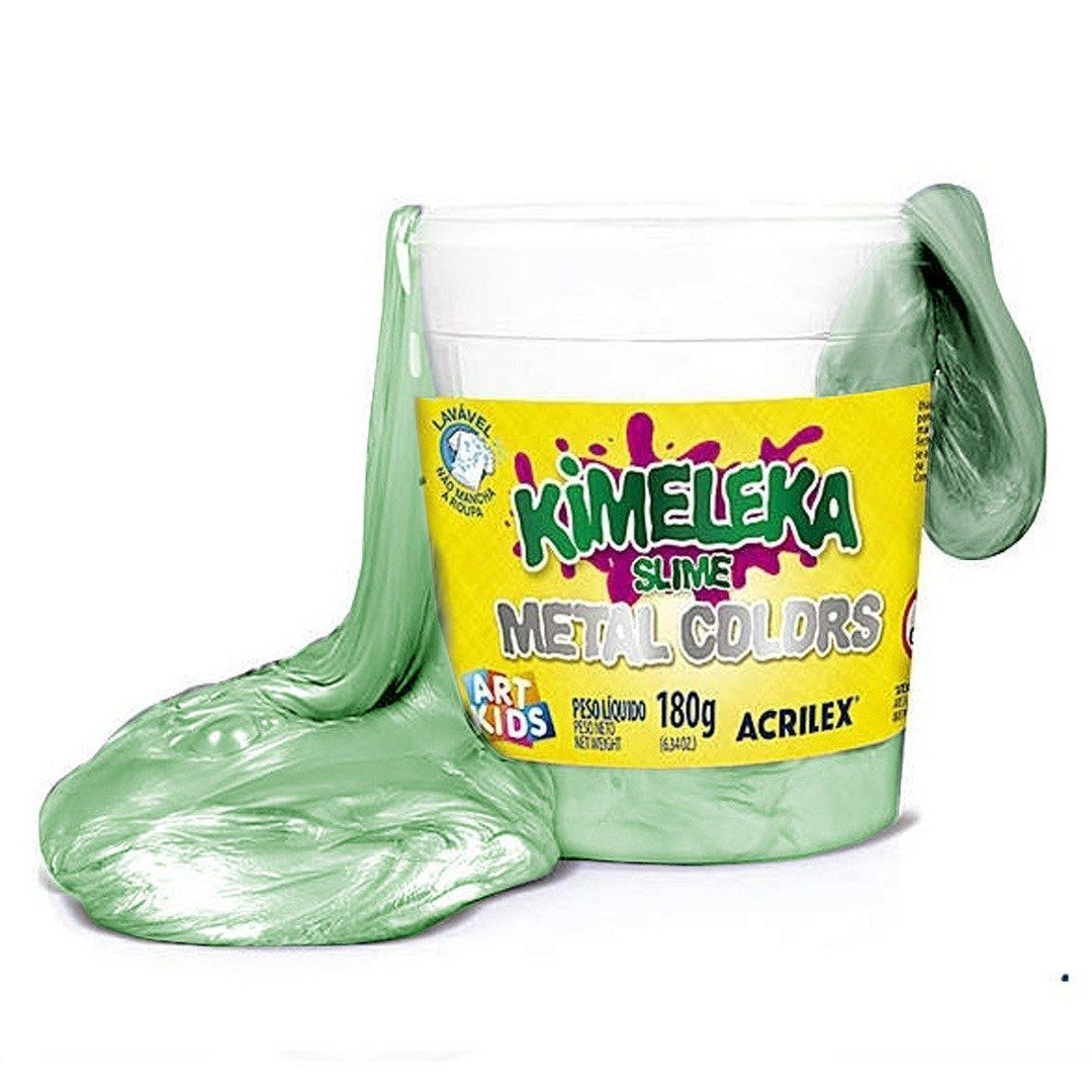 Slime Kimeleka (Metal Colors): Verde - Acrilex