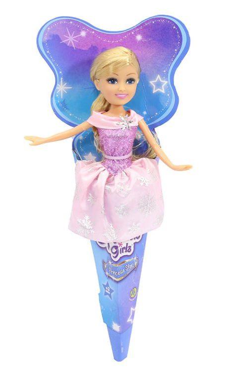 Sparkle Girlz: Princesa com Vestido Rosa no Cone