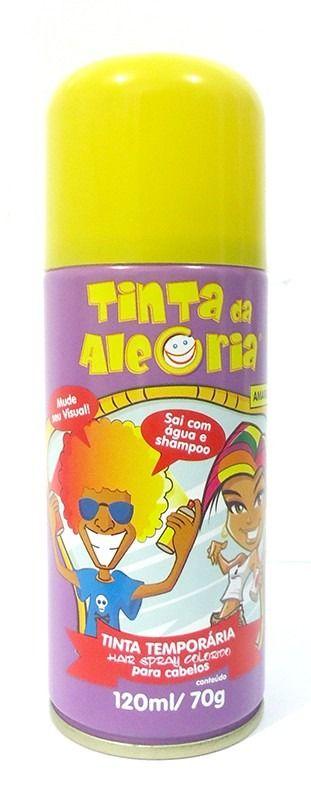 Spray de Cabelo (Amarelo) - Acessório  de Carnaval