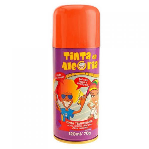Spray de Cabelo (Laranja) - Acessório  de Carnaval