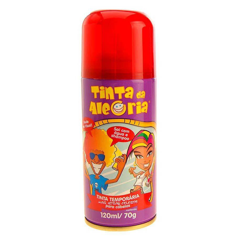 Spray de Cabelo (Vermelho) - Acessório  de Carnaval