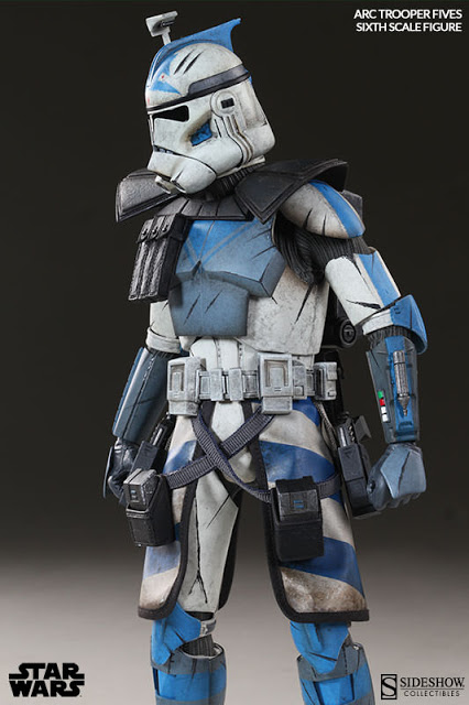 Boneco Clone Trooper Fives: Star Wars Phase II Armor Escala 1/6 - Sideshow - CD