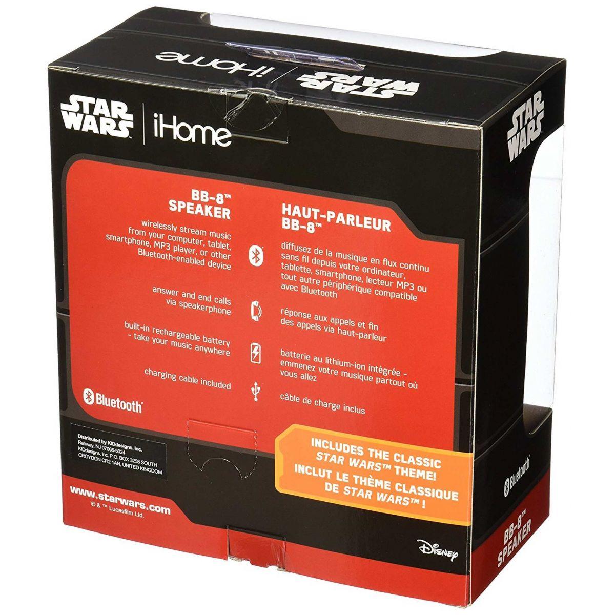 Caixa de Som BB-8: Star Wars: Bluetooth Speaker - Disney
