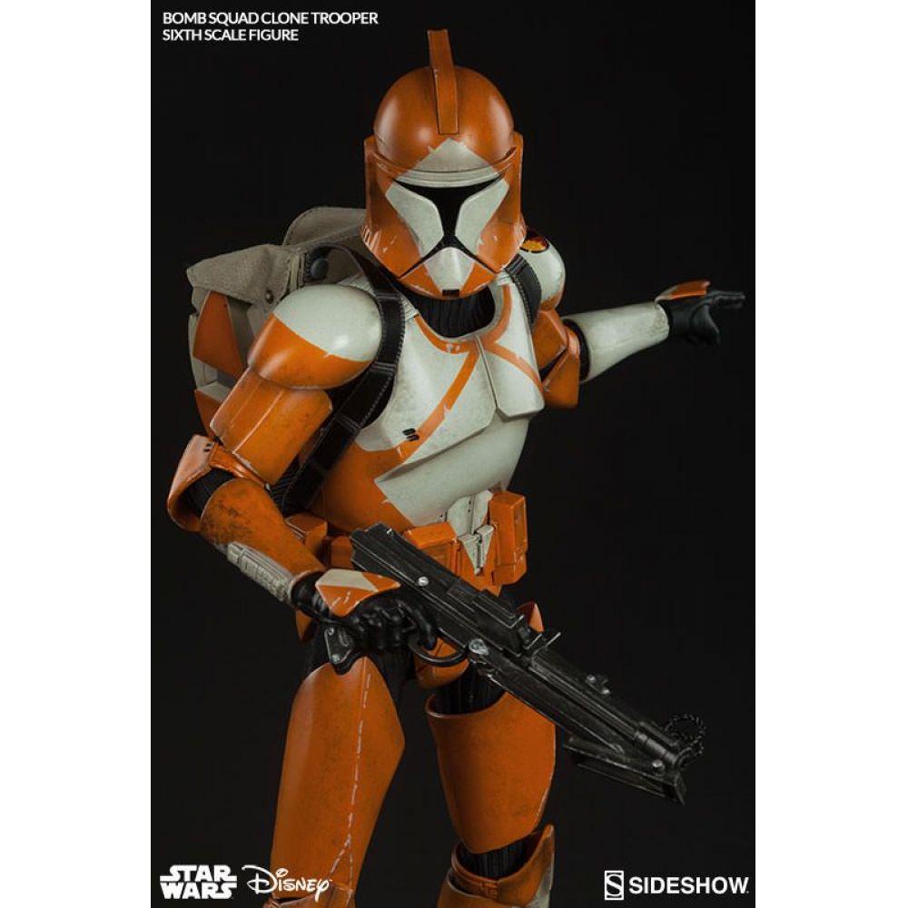Boneco Clone Trooper Bomb Squad: Star Wars Escala 1/6 - Sideshow