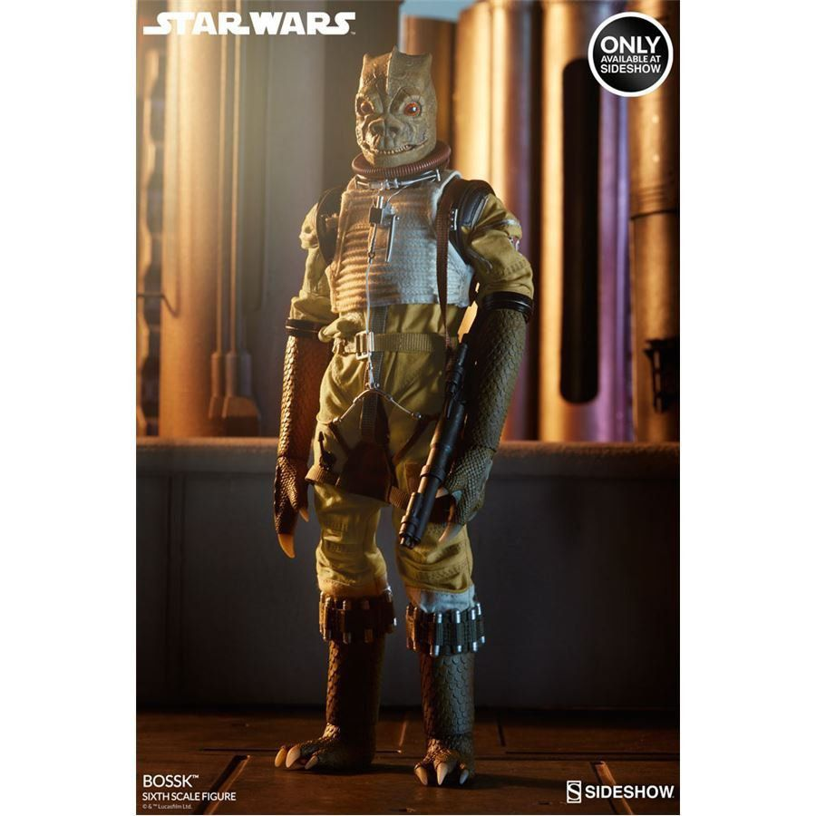 PRÉ VENDA: Boneco Bossk: Star Wars Exclusivo Escala 1/6 - Sideshow