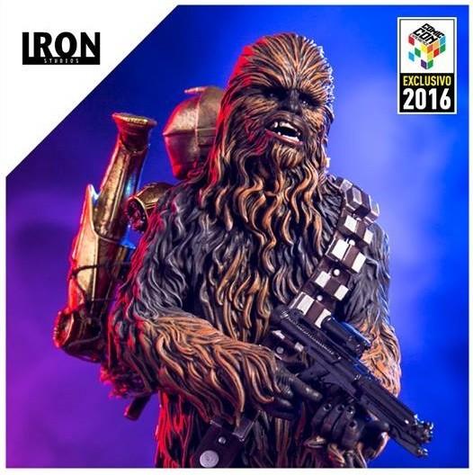 Star Wars: Chewbacca & C-3PO Escala 1/10 Exclusivo CCXP 2016 - Iron Studios