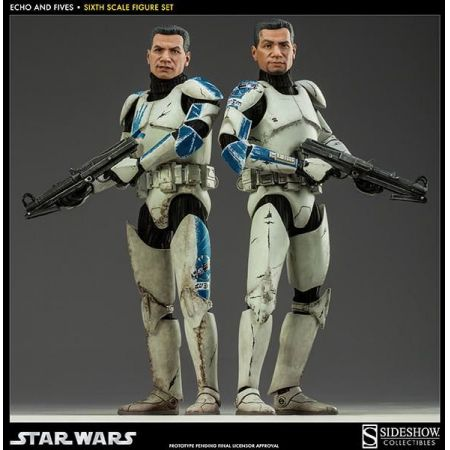 Star Wars Clone Troopers Echo & Fives 1:6 - Sideshow