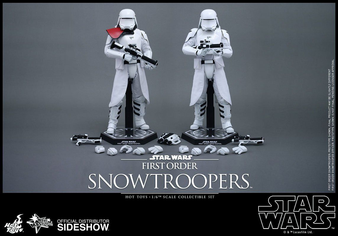 Action Figure First Order Snowtroopers Set: Star Wars: O Despertar da Força Boneco Colecionável Escala 1/6 (VGM25) - Hot Toys