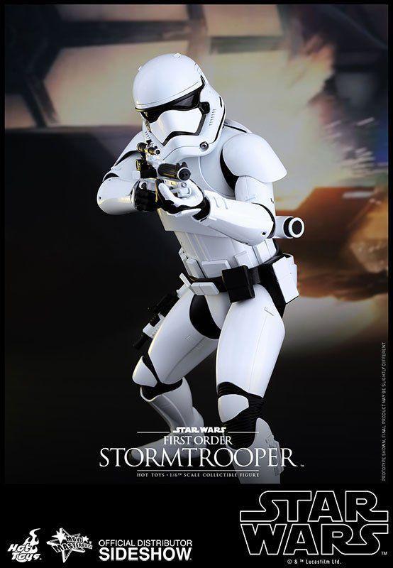 Boneco First Order Stormtrooper: Star Wars: O Despertar da Força Escala 1/6 (MMS317) - Hot Toys