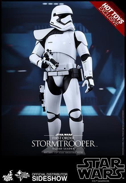 Star Wars First Order Stormtrooper (Squad Leader) Escala 1/6 - Hot Toys - CD