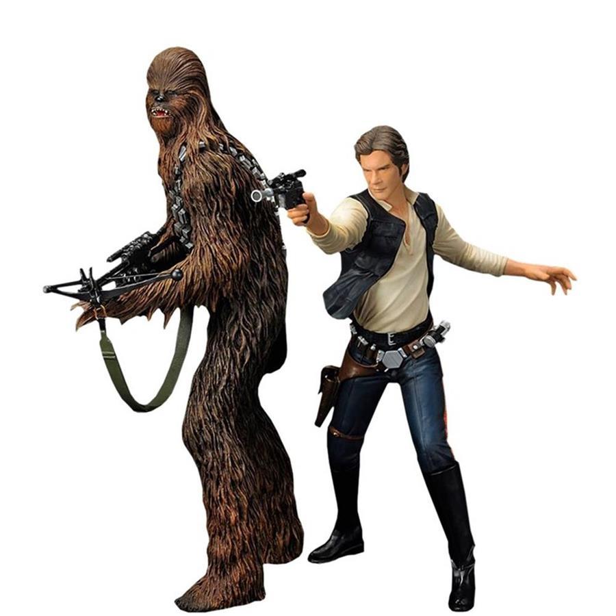 Estátua Han Solo e Chewbacca: Star Wars: Nova Esperança A New Hope ArtFX Estátua - Kotobukiya