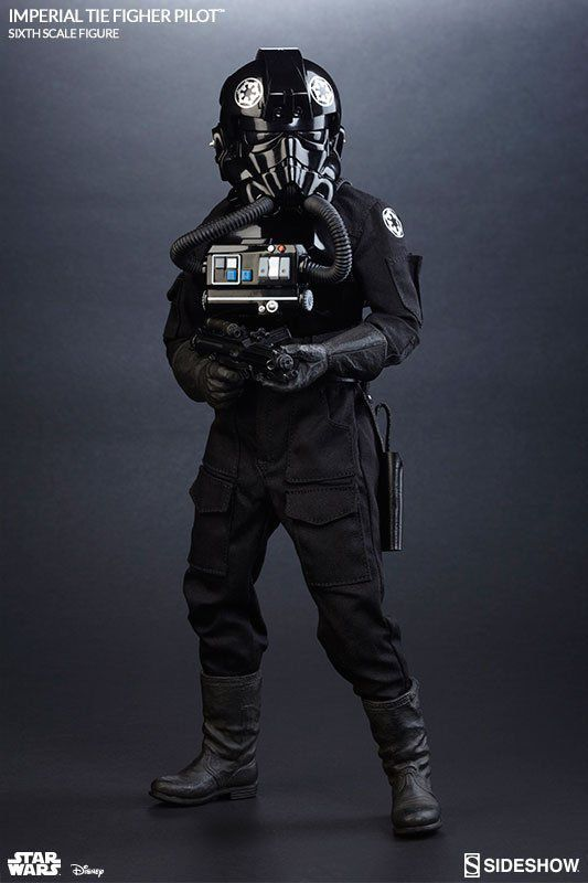 Boneco Tie Pilot Imperial: Star Wars Rogue One: 1/6 - Sideshow