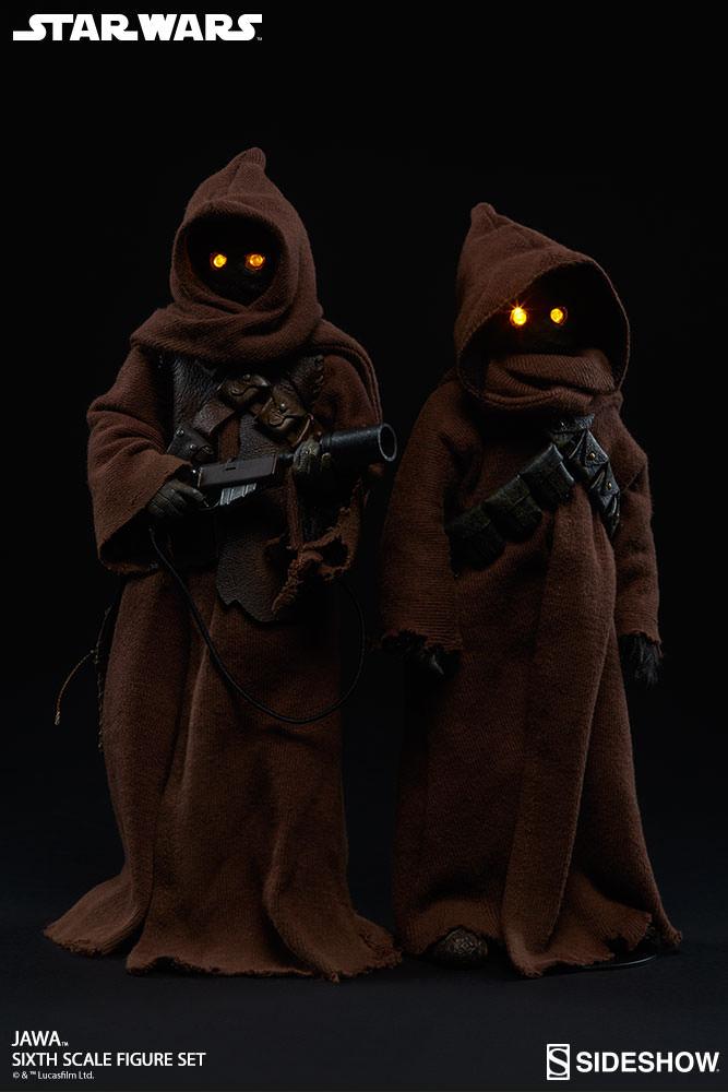 Star Wars : Jawa Pack com Duas Figuras Escala 1/6 - Sideshow