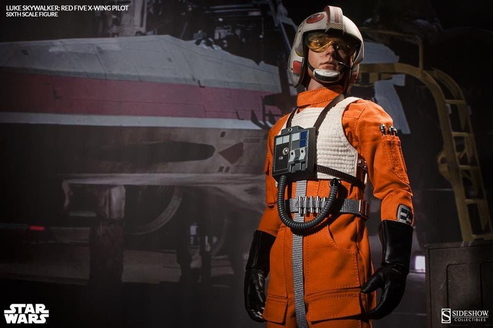 Boneco Luke Skywalker Red Five X-Wing Pilot: Star Wars IV: (Uma Nova Esperança) Escala 1/6 - Sideshow