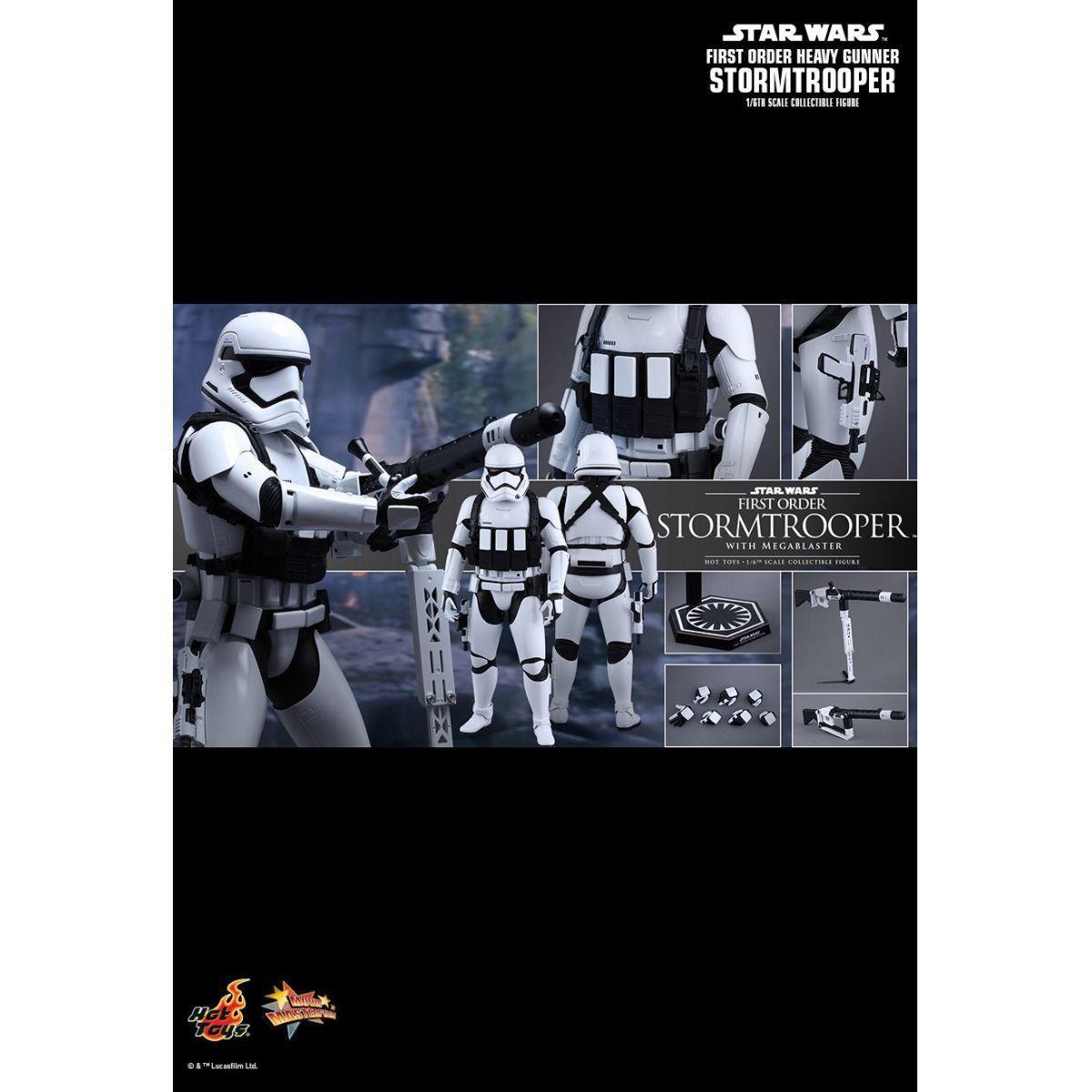 Boneco First Order Heavy Gunner Stormtrooper: Star Wars: O Despertar da Força Escala 1/6 - Hot Toys