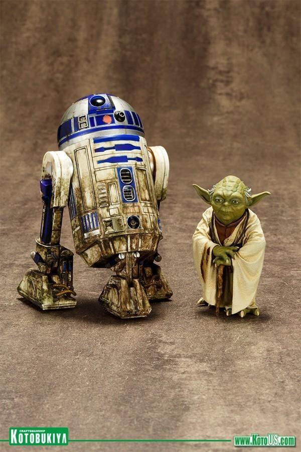 Estátuas Yoda & R2-D2 Star Wars: O Império Contra-Ataca Dagobah Pack Artfx+ Statue Escala 1/10 - Kotobukiya