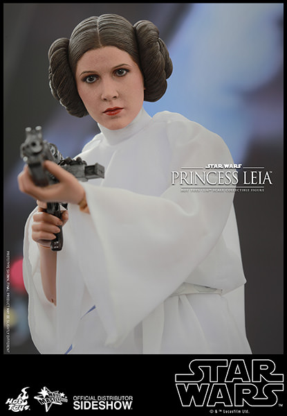 Action Figure Leia Organa (Princesa Leia): Star Wars (Escala 1/6) - Hot Toys (USADO E SEM CAIXA)