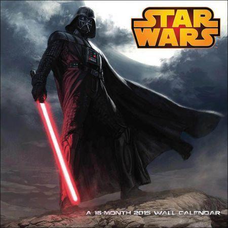Star Wars Saga Darth Vader 2015 Calendário de 12 meses