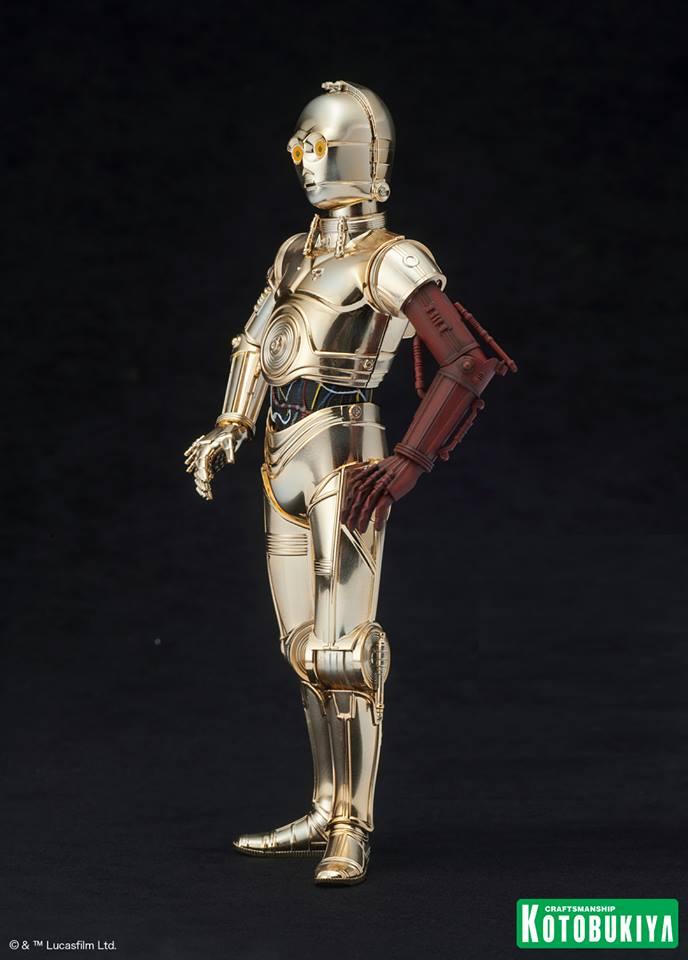Pack Estátuas Star Wars The Force Awakens ArtFX+ Statues: C-3PO, R2-D2 e BB-8 - Kotobukiya