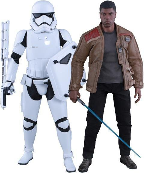 Bonecos Finn and First Order Stormtrooper: Star Wars: O Despertar da Força Escala 1/6 (MMS346) - Hot Toys - CD