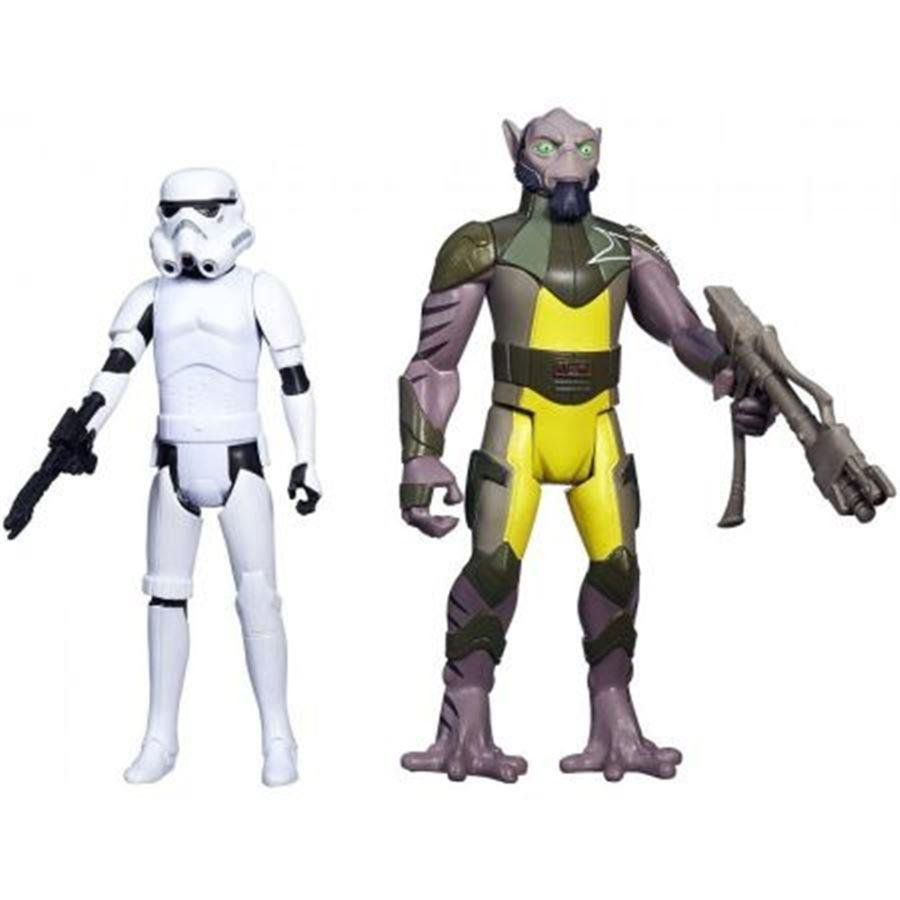 Star Wars Zeb And Stormtrooper Mission Series - Hasbro