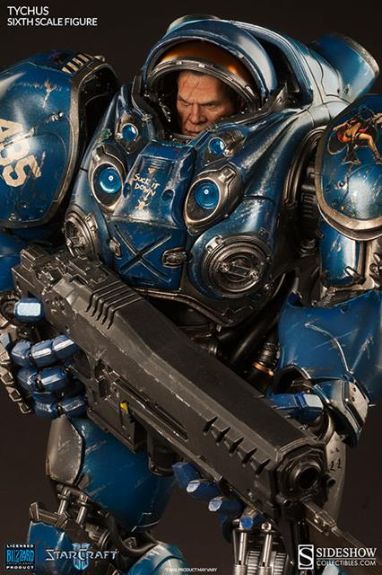 Boneco Tychus Findlay: Starcraft II Escala 1/6 - Sideshow - CD