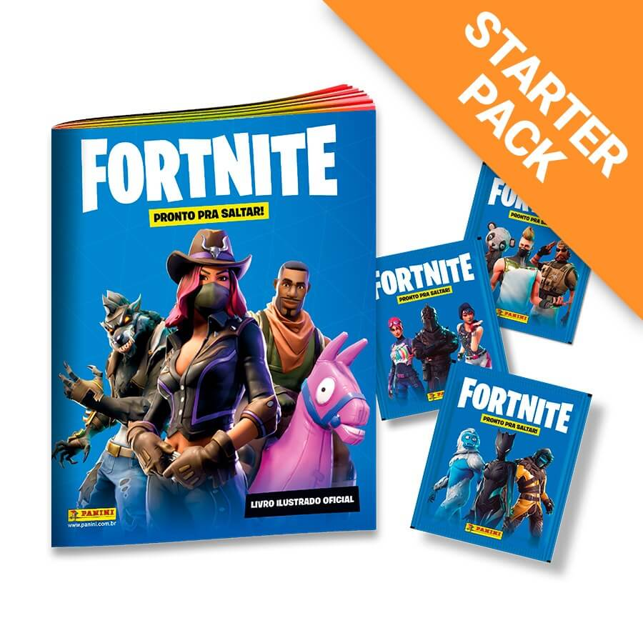 Starter Pack Álbum de Figurinhas: Fortnite (Álbum + 60 Figurinhas) - Panini