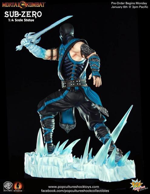 Sub-Zero Mortal Kombat 9 Estátua Escala 1/4 - Pop Culture Shock
