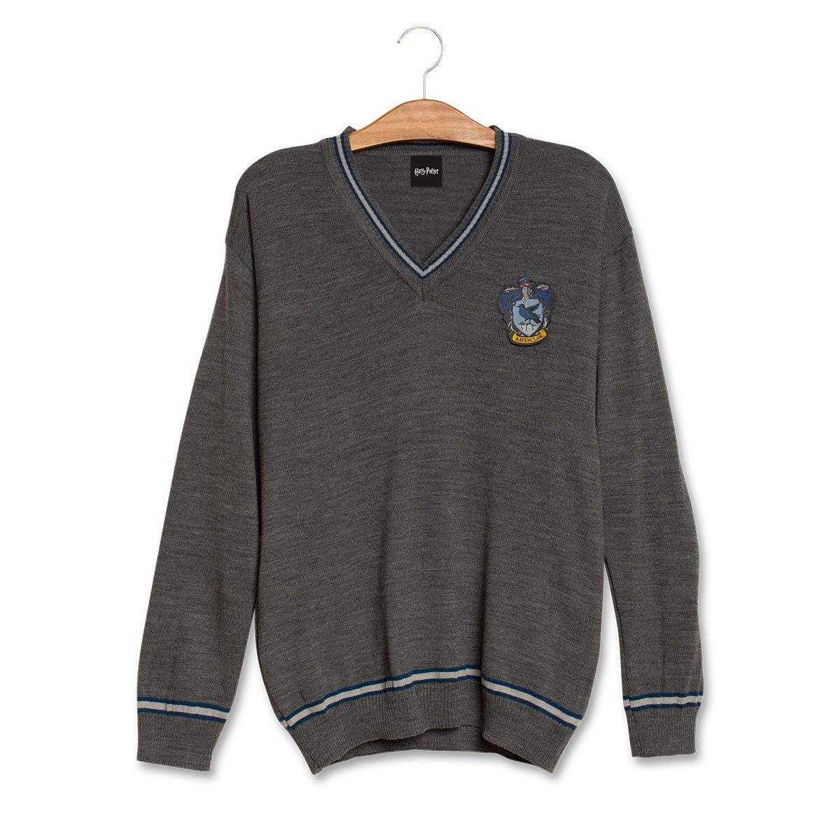 Suéter Corvinal (Ravenclaw): Harry Potter (Cinza)