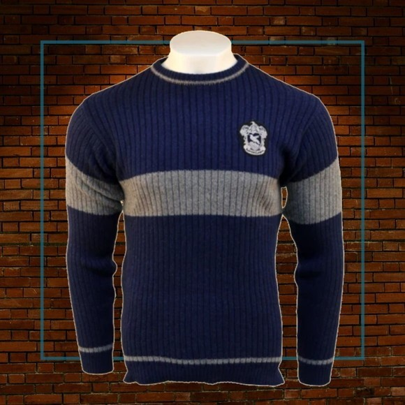 Suéter Corvinal (Ravenclaw): Harry Potter (Cinza E Azul)