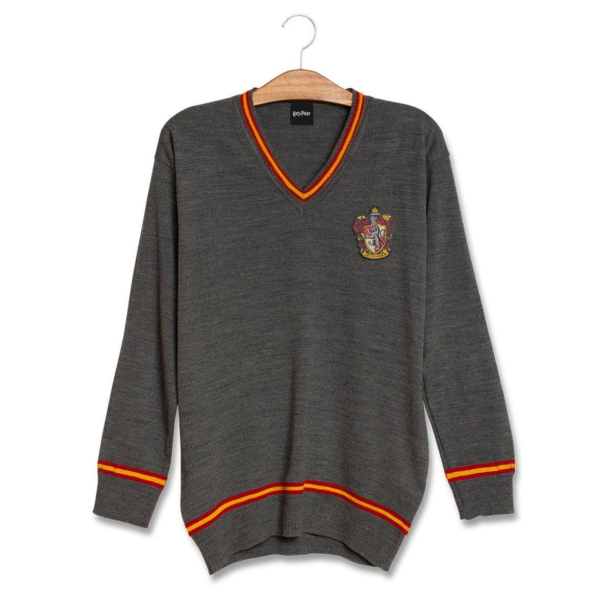 Suéter Grifinória (Gryffindor): Harry Potter (Cinza)
