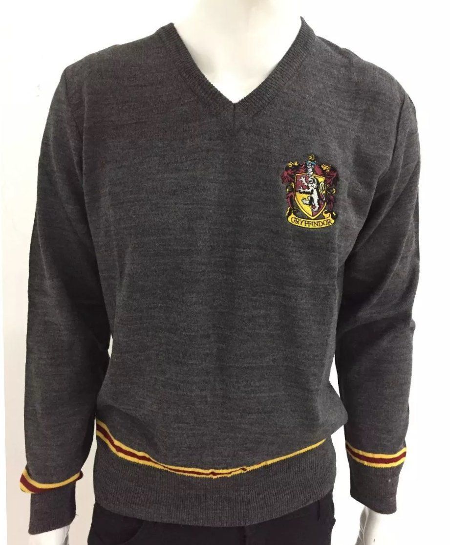 Suéter Gryffindor: Harry Potter (Cinza)