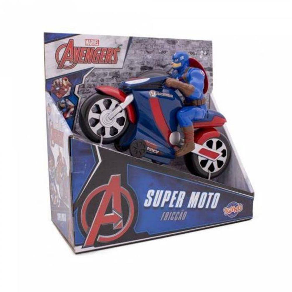 Super Moto Fricção Capitão América: Os Vingadores (Disney) - Toyng