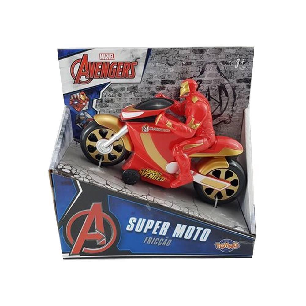 Super Moto Fricção Homem de Ferro: Os Vingadores (Disney) - Toyng