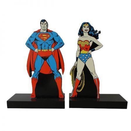 Superman e Wonder Woman Suporte para Livros - Dc Comics