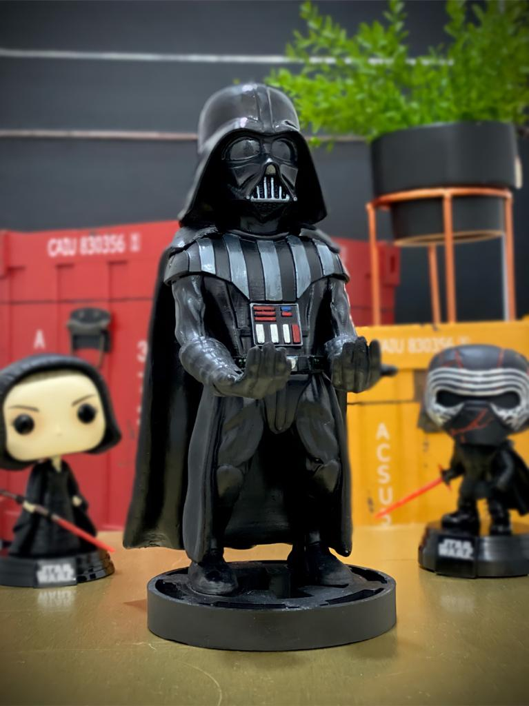 Suporte Para Celular e Controle de Vídeo Game: Darth Vader