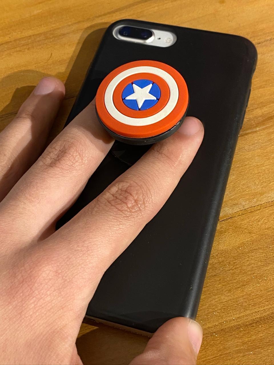 Suporte Para Celular Pocket Socket Escudo Capitão América: Marvel  - Toyshow Geek e Colecionáveis Tudo em Marvel DC Netflix Vídeo Games