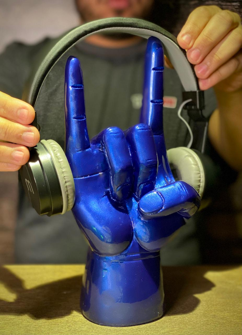 Suporte Para Fones: Rock 'n' Roll (Azul)