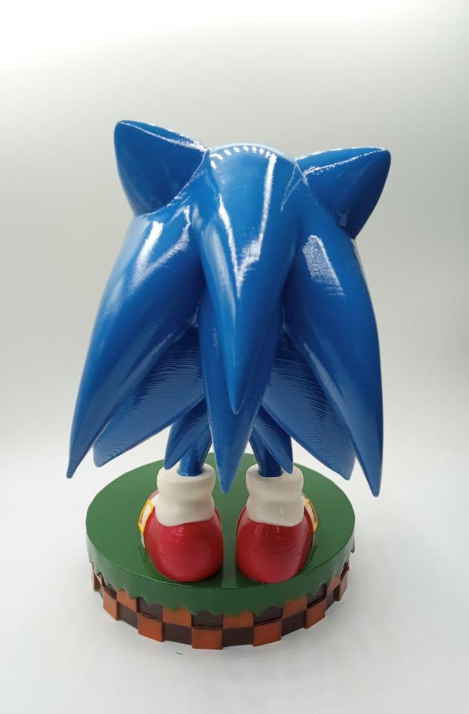 """Suporte Sonic """"The Hedgehog"""" para Celular e Controle"""
