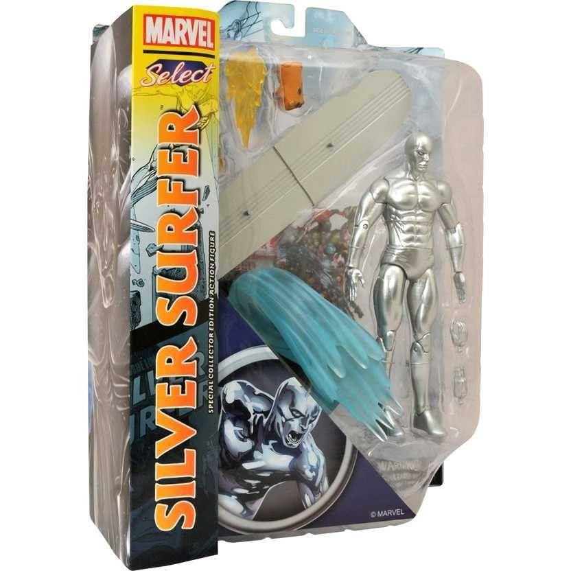 Boneco Surfista Prateado (Silver Surfer): Marvel Select - Diamond Select